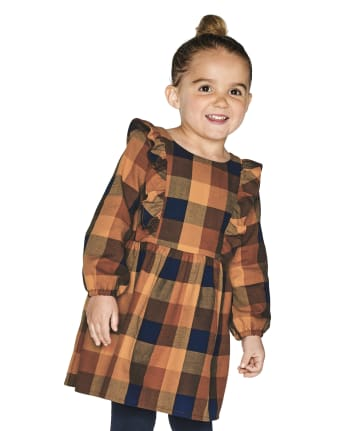 Baby And Toddler Girls Matching Family Plaid Dress