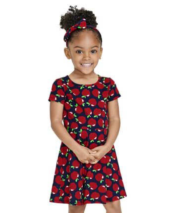 Baby And Toddler Girls Apple Skater Dress
