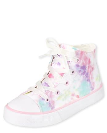 Girls Tie Dye Hi Top Sneakers
