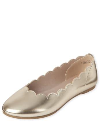 Girls Scalloped Ballet Flats