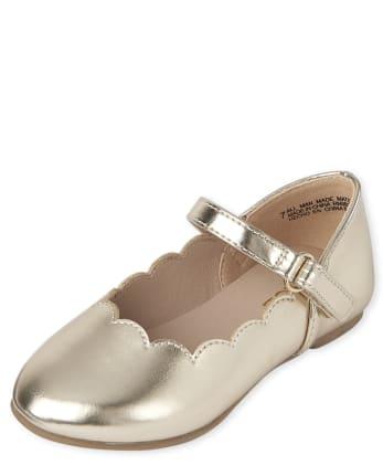Toddler Girls Scalloped Ballet Flats