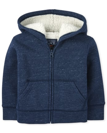 Baby And Toddler Boys Sherpa Zip Up Hoodie