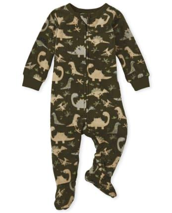 Baby And Toddler Boys Dino Fleece One Piece Pajamas