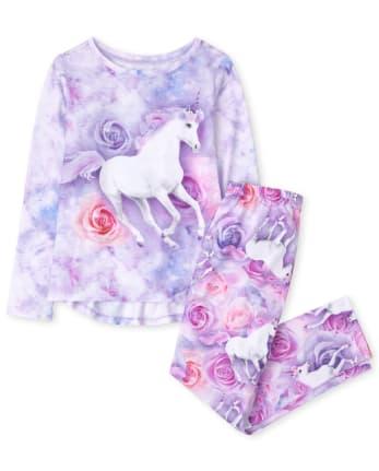 Girls Unicorn Pajamas