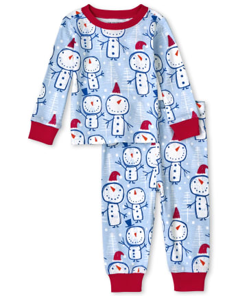Unisex Baby And Toddler Snowman Snug Fit Cotton Pajamas