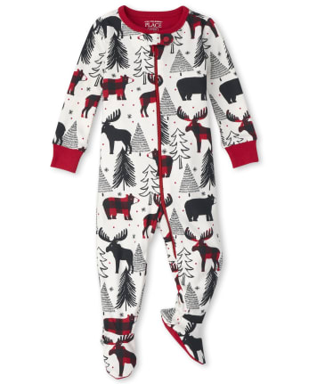 Unisex Baby And Toddler Matching Family Winter Bear Snug Fit Cotton One Piece Pajamas