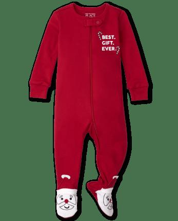 Unisex Baby And Toddler Santa Snug Fit Cotton One Piece Pajamas