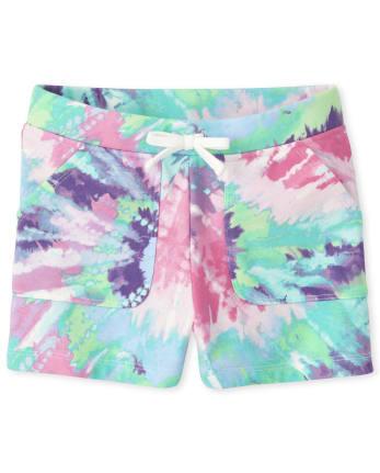 Girls Tie Dye French Terry Shorts
