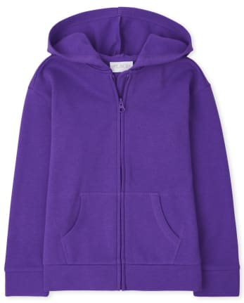 Girls Fleece Zip Up Hoodie