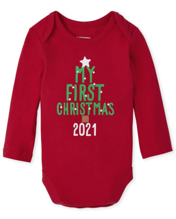 Unisex Baby First Christmas Graphic Bodysuit