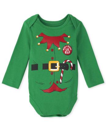 Unisex Baby Elf Suit Graphic Bodysuit