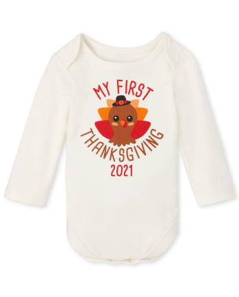 Unisex Baby First Thanksgiving Graphic Bodysuit
