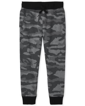 Boys Camo Fleece Jogger Pants