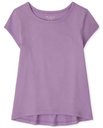 Camiseta básica de capas para niñas