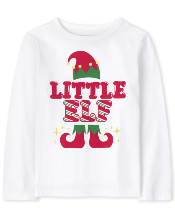 Baby and Toddler Boys Matching Family Little Elf Graphic Tee