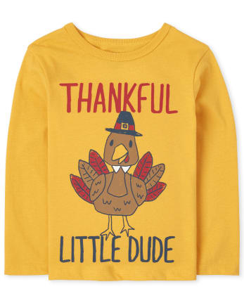 Baby And Toddler Boys Thankful Dude Graphic Tee