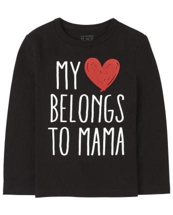 Baby And Toddler Boys Heart Mama Graphic Tee