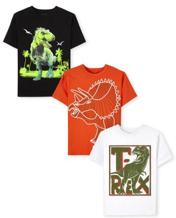 Boys Dino Graphic Tee 3-Pack