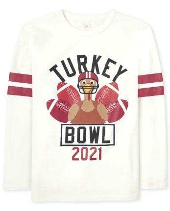 Unisex Kids Matching Family Turkey Bowl Graphic Tee
