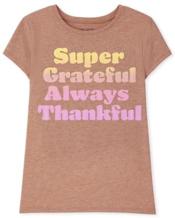 Girls Thankful Graphic Tee
