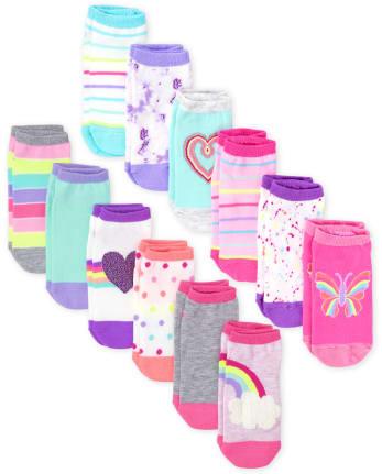 Girls Print Ankle Socks 12-Pack