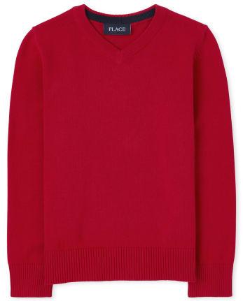 Boys V Neck Sweater