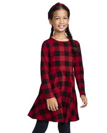 Girls Print Skater Dress