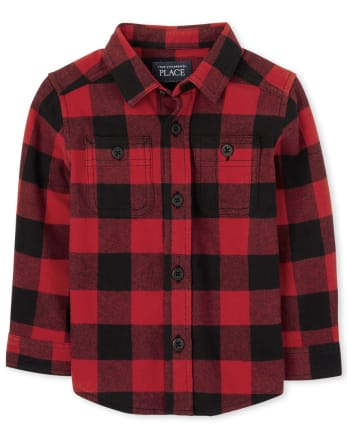 Baby And Toddler Boys Buffalo Plaid Flannel Button Down Shirt