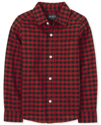 Camisa Oxford con Botones a Cuadros Buffalo Family Matching para Niños