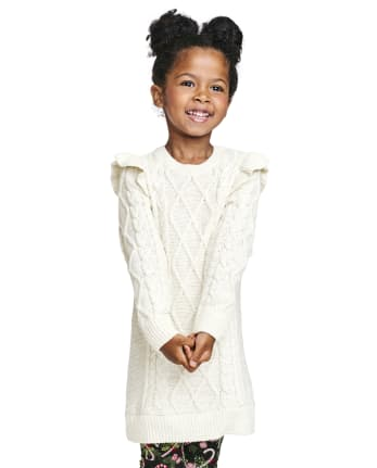 Baby And Toddler Girls Ruffle Sweater Dress