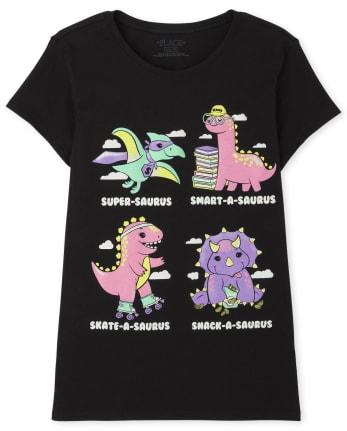 Girls Dino Graphic Tee