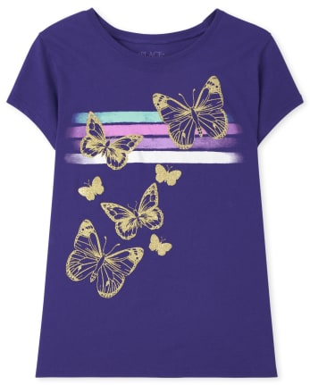 Girls Butterfly Graphic Tee