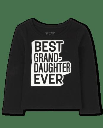 Camiseta con gráfico de nieta de la familia a juego para bebés y niñas pequeñas