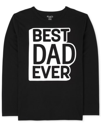 Camiseta con gráfico de papá de familia a juego para hombre