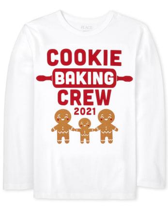 Camiseta unisex con estampado familiar para hornear a juego para niños