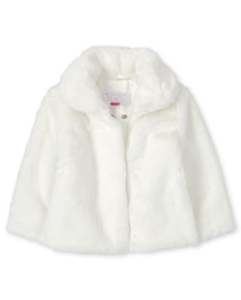 Toddler Girls Faux Fur Coat