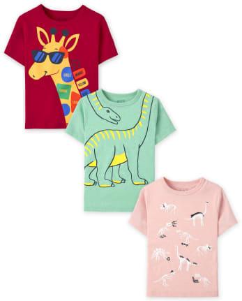Toddler Boys Animal Graphic Tee 3-Pack