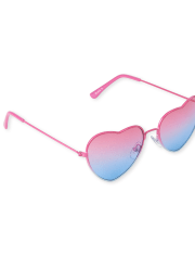 Deals on Girls Ombre Heart Sunglasses
