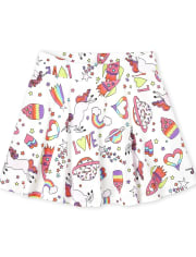 Deals on The Childrens Place Girls Mix And Match Print Skort