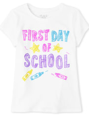 Girls First Day Of School Graphic Tee