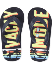 Deals on The Childrens Place Boys Vacay Mode Flip Flops