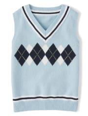 Boys Sleeveless Argyle Sweater Vest - Spring Jubilee