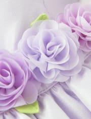 Girls Flower Applique Dress - Spring Jubilee
