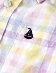 Boys Check Button Up Shirt- Spring Jubilee