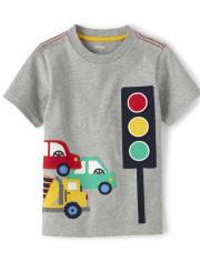 Boys Peek-A-Boo Traffic Light Top - Travel Adventure