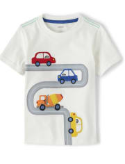 Boys Applique Road Top - Travel Adventure
