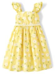 Girls Floral Dress - Sunny Daisies