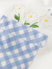Girls Applique Garden Top - Sunny Daisies