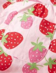 Girls Bubble Shorts - Strawberry Patch