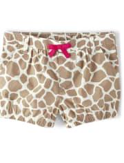 Girls Giraffe Bubble Shorts - Summer Safari